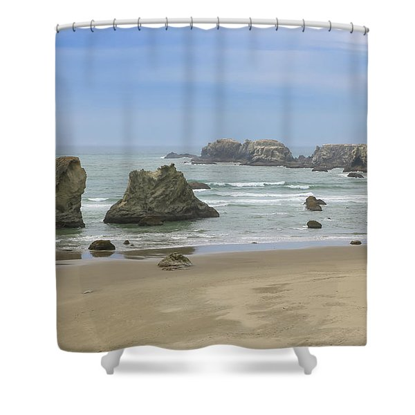 Shower Curtain featuring the photograph Face Rock Trail, Bandon Beach, Oregon by Dawn Richards