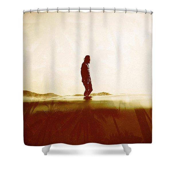 Face The Sun 2 Shower Curtain