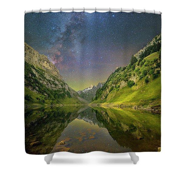 Faelensee Nights Shower Curtain