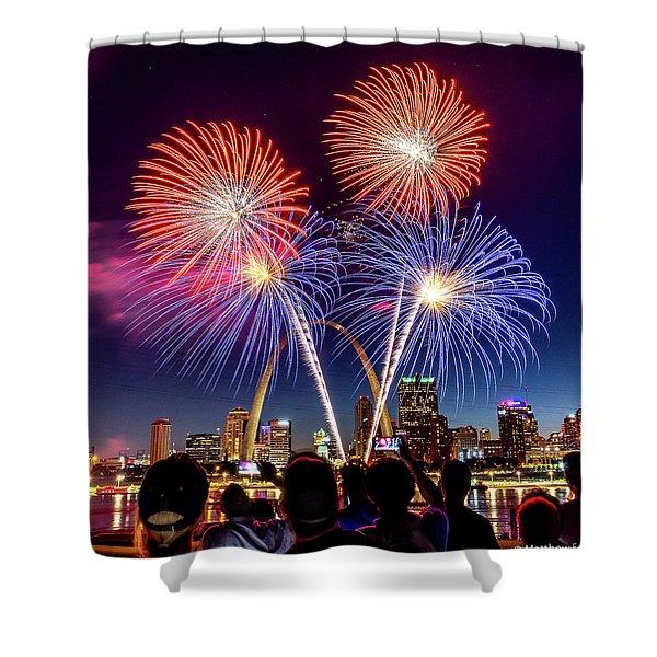 Fair St. Louis Fireworks 6 Shower Curtain