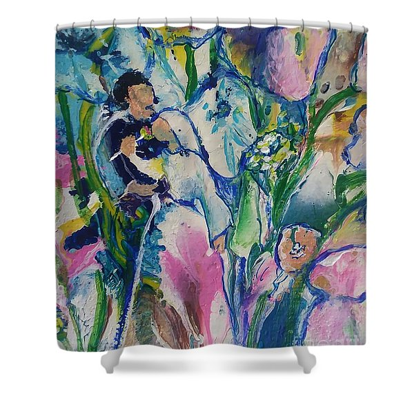 Shower Curtain featuring the painting Fairest Among The Lilies by Deborah Nell
