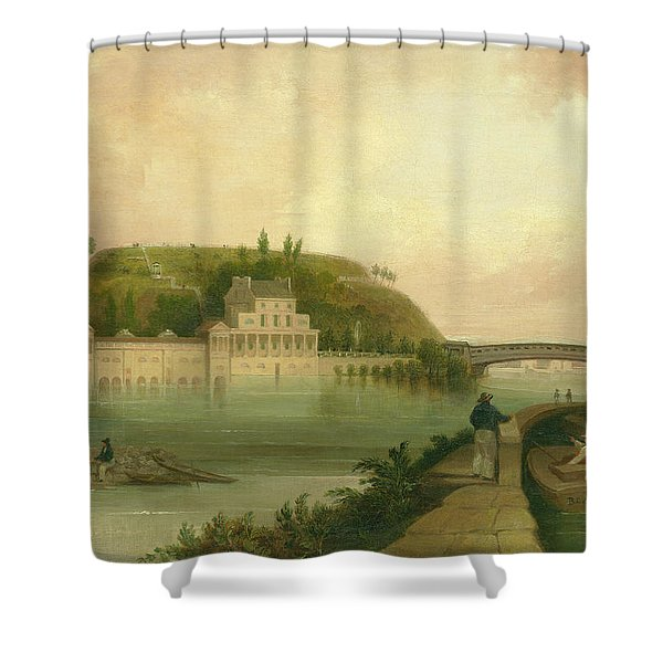 Fairmount Waterworks About 1838 Shower Curtain