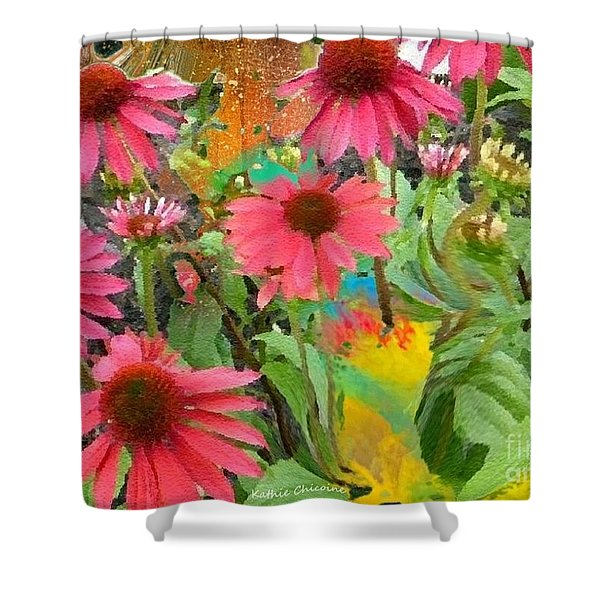 Fairy Among The Flowers Shower Curtain
