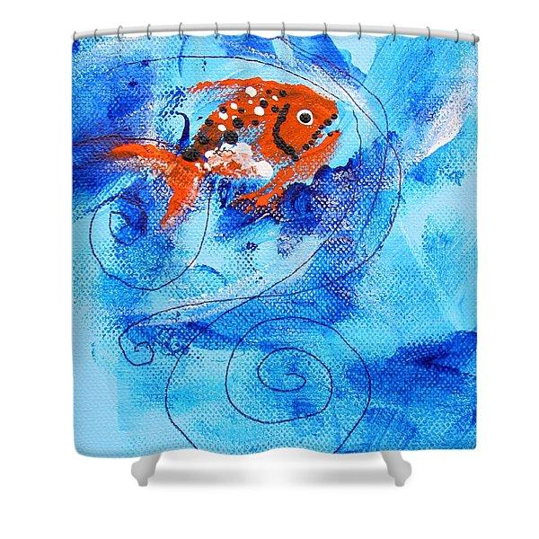 Fake Nemo Fish Shower Curtain