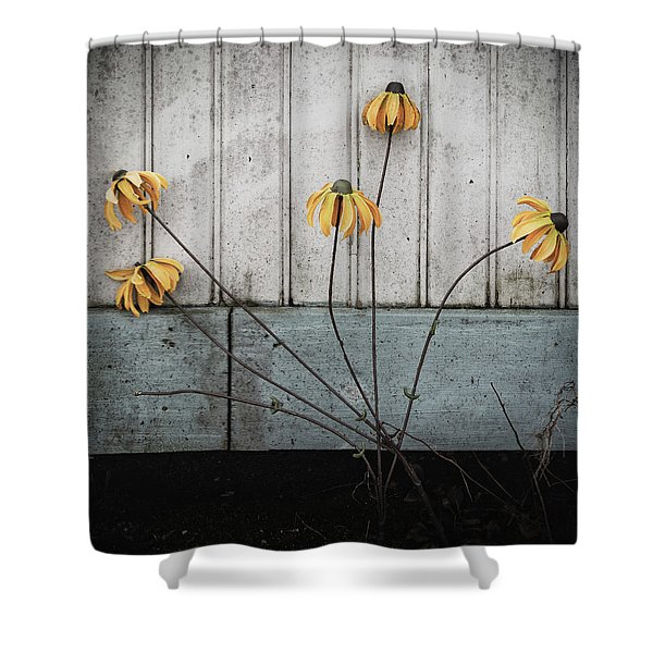 Fake Wilted Flowers Shower Curtain