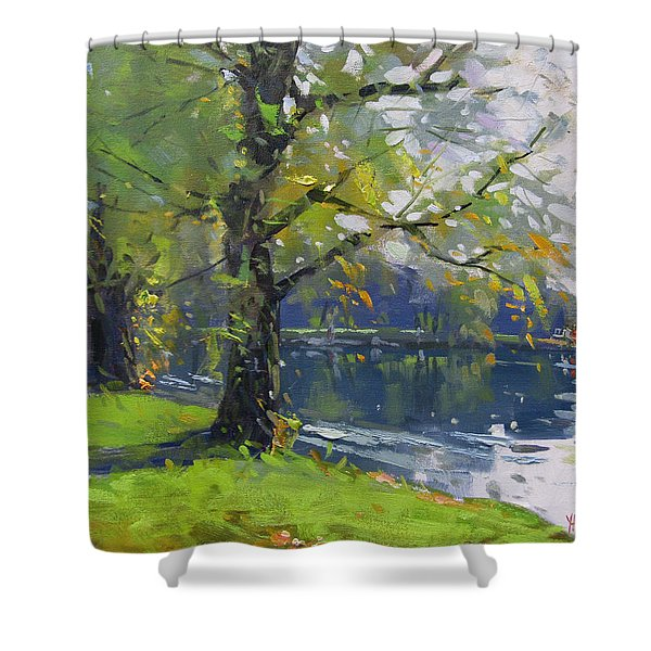 Fall At Bond Lake Park Shower Curtain