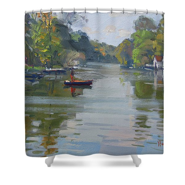 Fall At Mayors Park Shower Curtain
