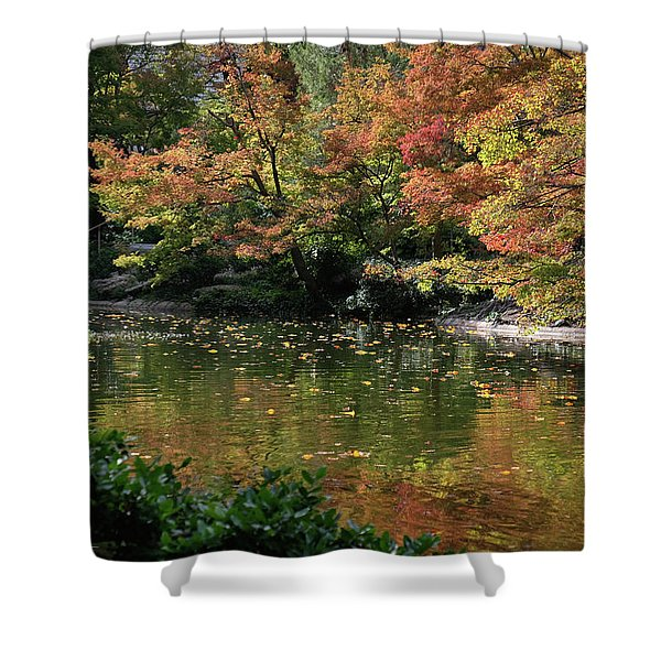 Fall At The Japanese Garden Shower Curtain