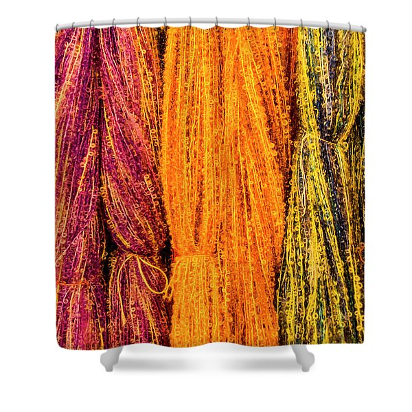 Fall Fibers 2 Shower Curtain