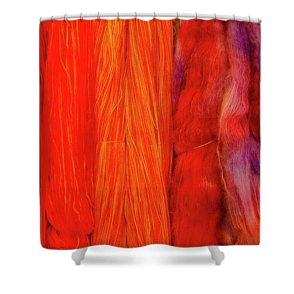 Fall Fibers 3 Shower Curtain