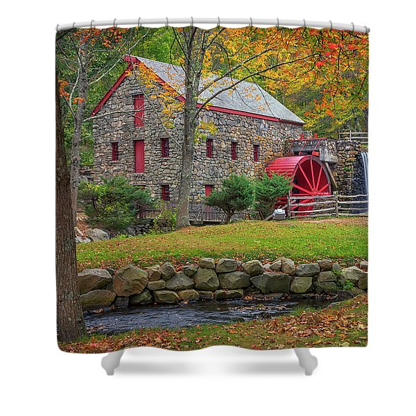 Fall Foliage At The Grist Mill Shower Curtain