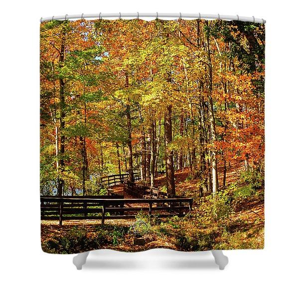 Fall Hike At Mirror Lake Shower Curtain