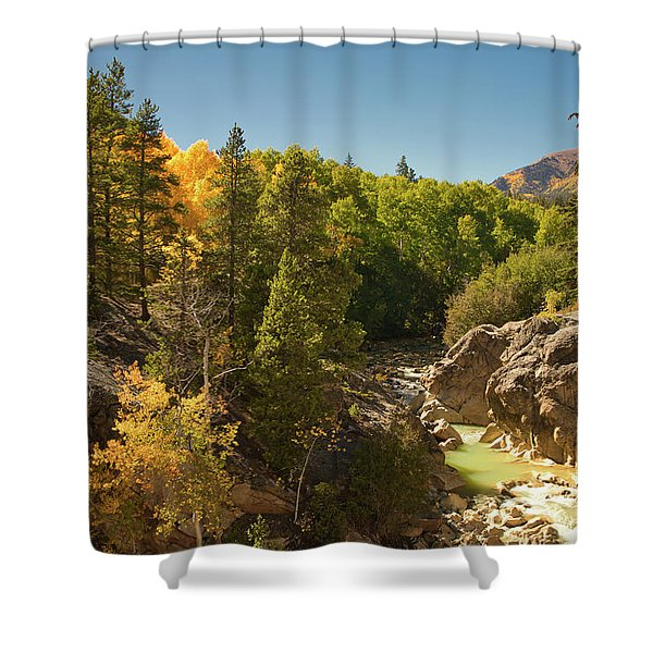 Fall On Independence Pass Shower Curtain