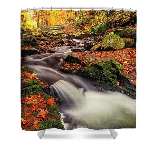 Fall Power Shower Curtain