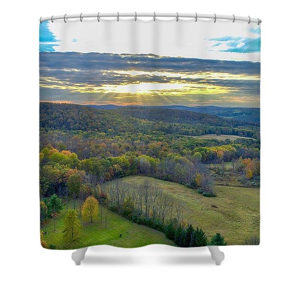 Fall Vibes  Shower Curtain