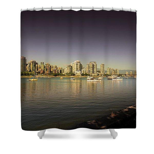 False Creek Golden Hour Shower Curtain