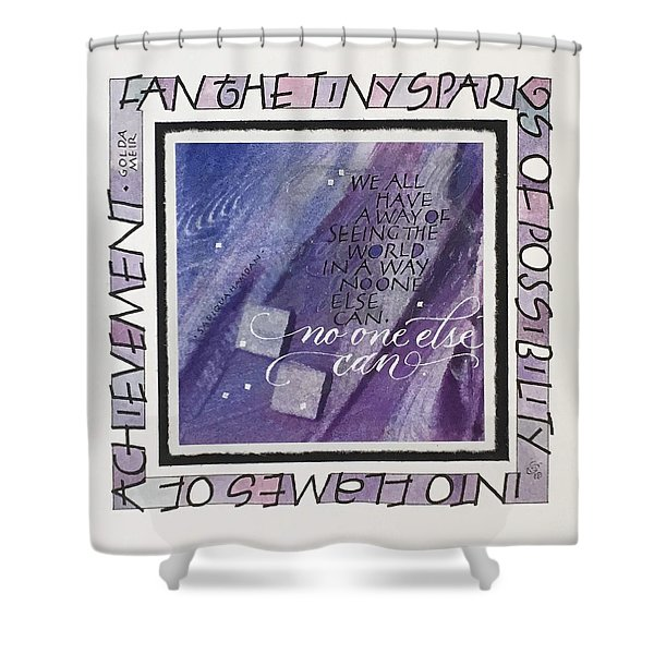 Fan The Sparks Shower Curtain