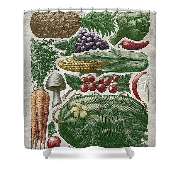 Farmer's Market - Color Shower Curtain