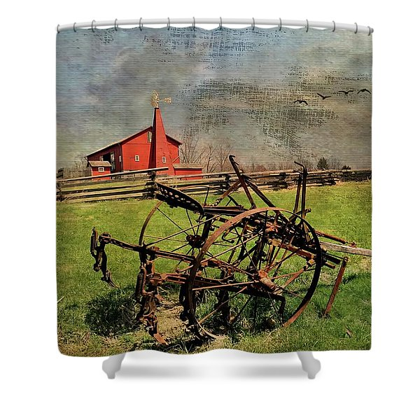 Farming In The 1880s Shower Curtain