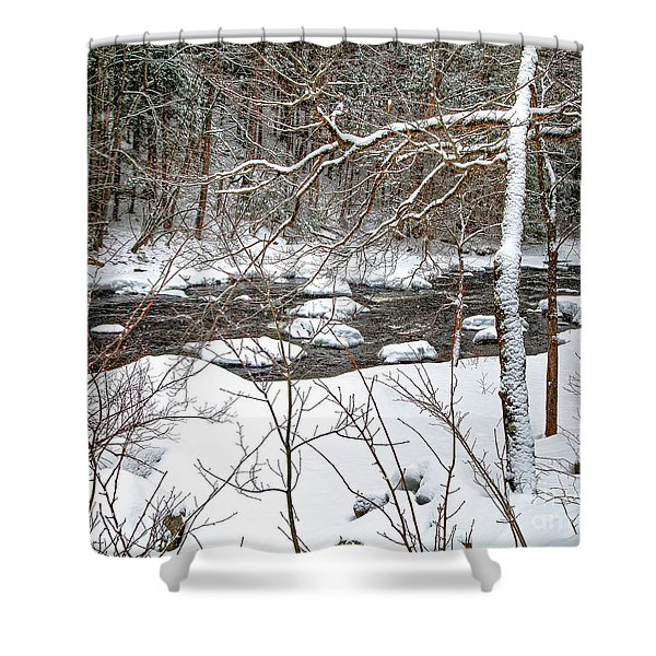 Farmington River - Northern Section Shower Curtain