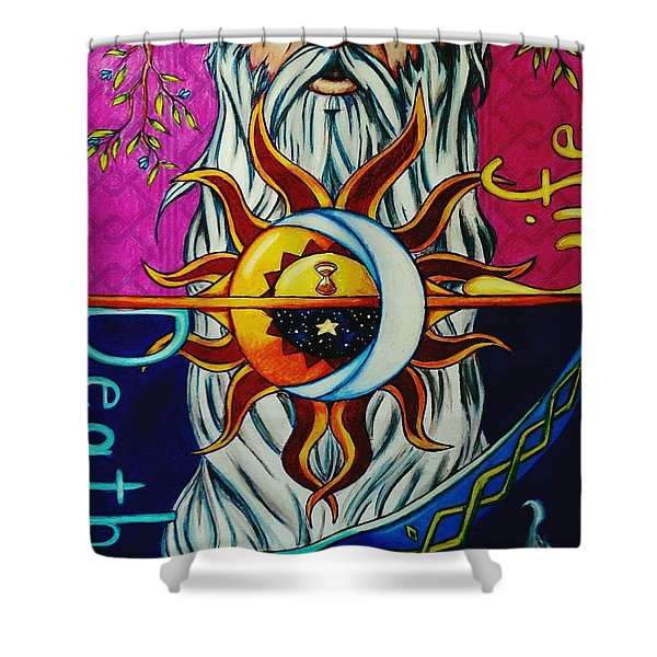 Father Time Shower Curtain