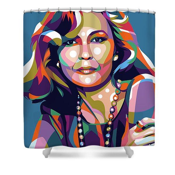 Faye Dunaway Shower Curtain
