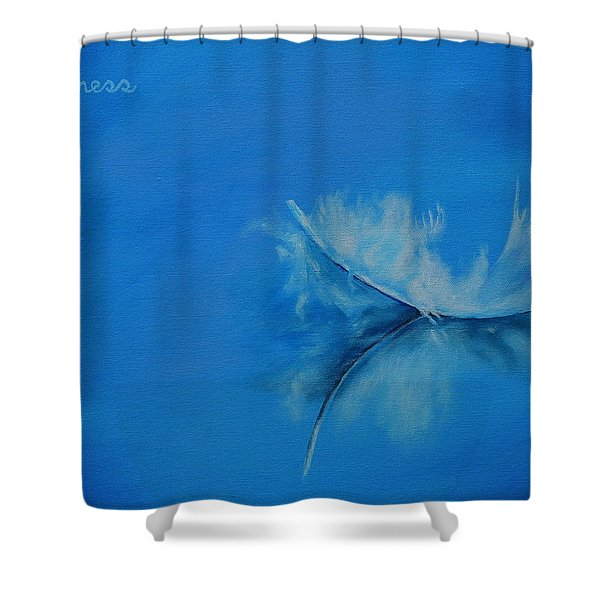 Feather Floating - Stillness Shower Curtain