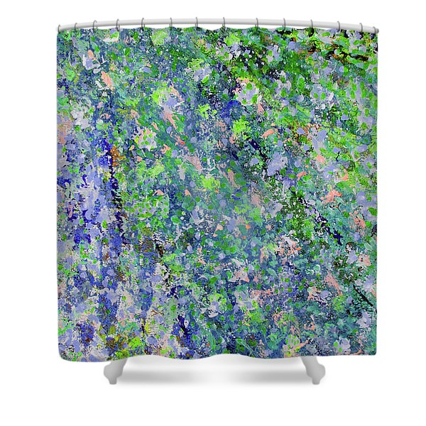 Blue And Green Cascade Shower Curtain