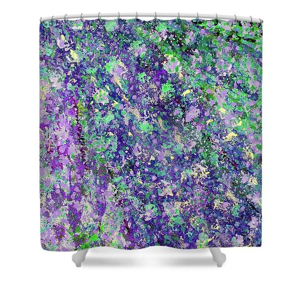 Purple And Green Cascade Shower Curtain