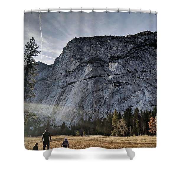 Feel Small Shower Curtain