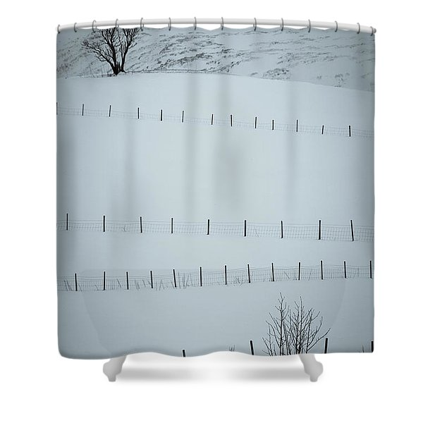 Fences And Trees Shower Curtain