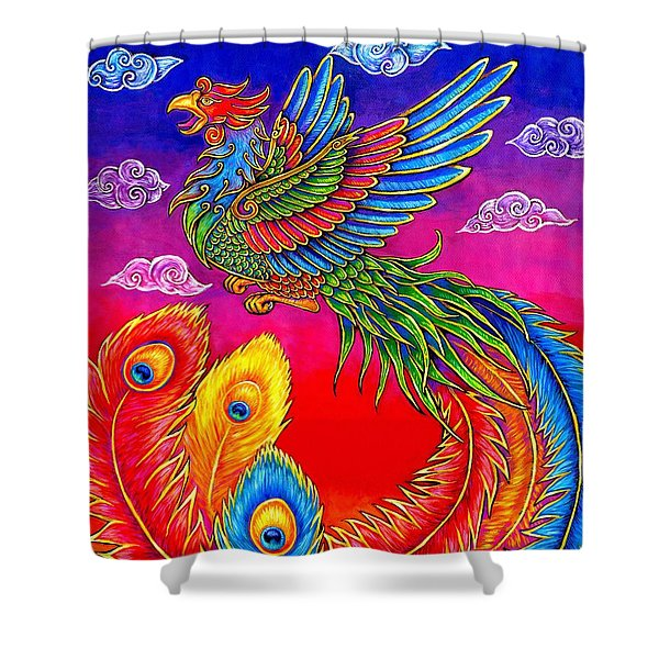Fenghuang Chinese Phoenix Shower Curtain