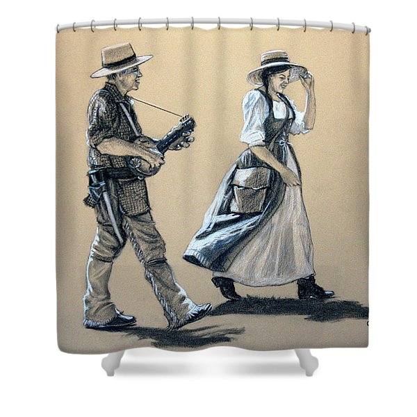 Fiddler's Daughter Shower Curtain