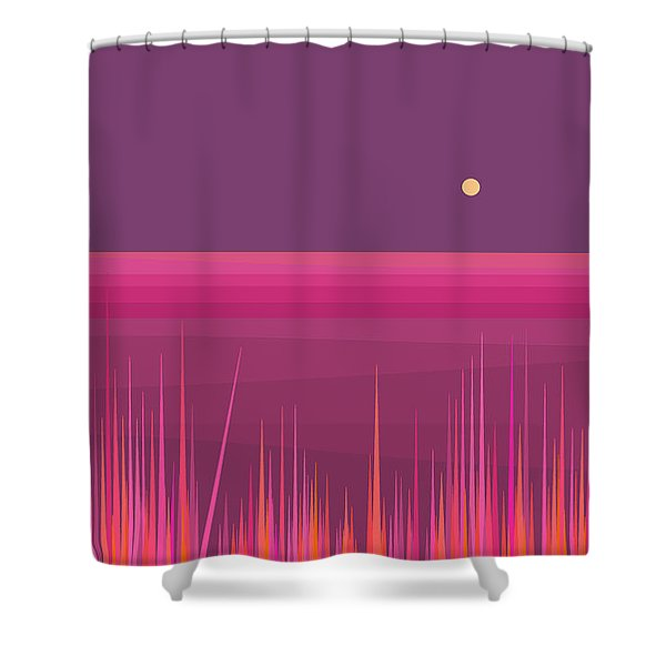 Fields Of Pink Shower Curtain