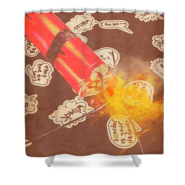 Fiery Fuse Shower Curtain