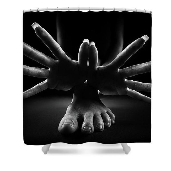 Figurative Body Parts 2 Shower Curtain