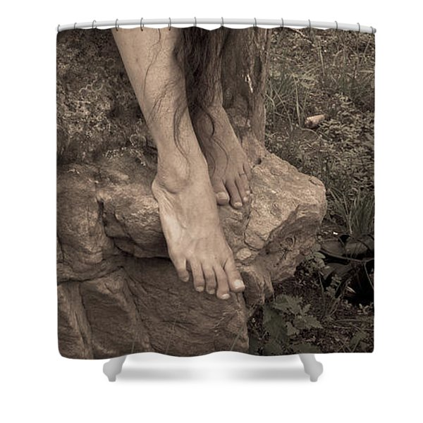 Shower Curtain featuring the photograph Figurative V by Catherine Sobredo