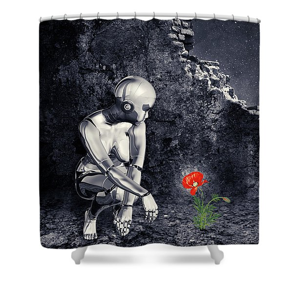 Finding Life Shower Curtain