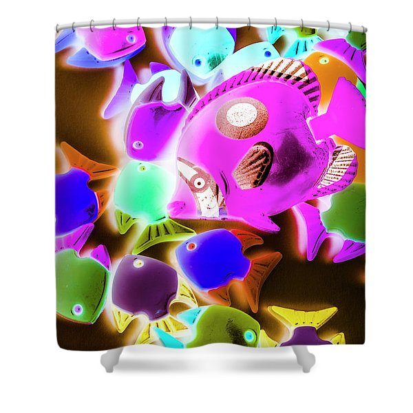 Finding Neon Shower Curtain