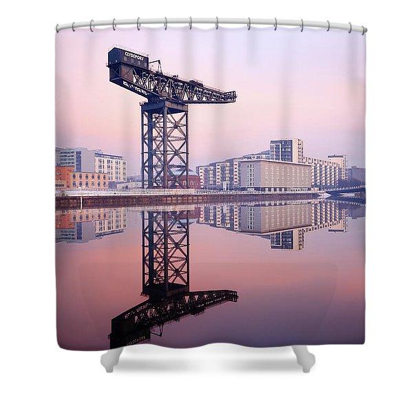 Finnieston Crane Reflection Shower Curtain