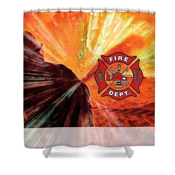 Fire Fighting 1 Shower Curtain