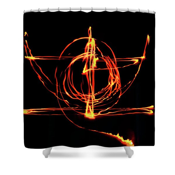 Fire Light Drawing Shower Curtain