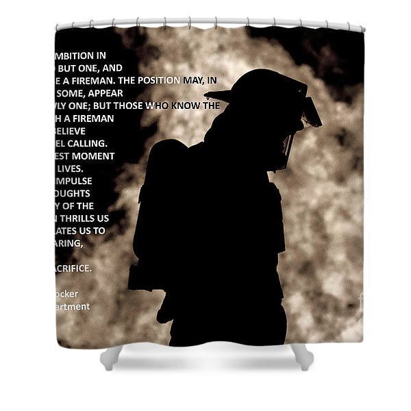 Firefighter Poem Shower Curtain