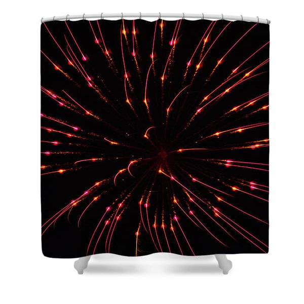 Shower Curtain featuring the photograph Fireworks Attraction by Meta Gatschenberger