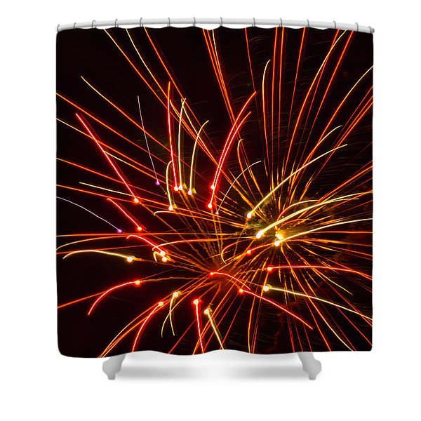 Shower Curtain featuring the photograph Fireworks Electricity by Meta Gatschenberger