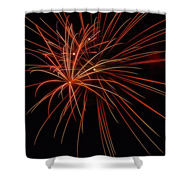 Shower Curtain featuring the photograph Fireworks Explosion by Meta Gatschenberger