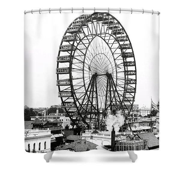 First Ferris Wheel - Chicago Worlds Fair 1893 Shower Curtain
