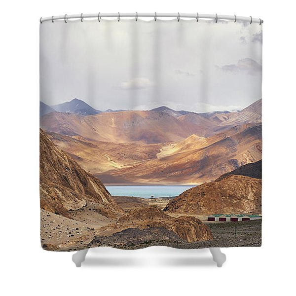 Shower Curtain featuring the photograph First Glimpse by Whitney Goodey