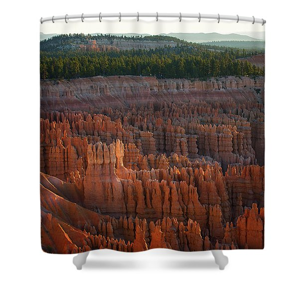 First Light On The Hoodoo Inspiration Point Bryce Canyon National Park Shower Curtain
