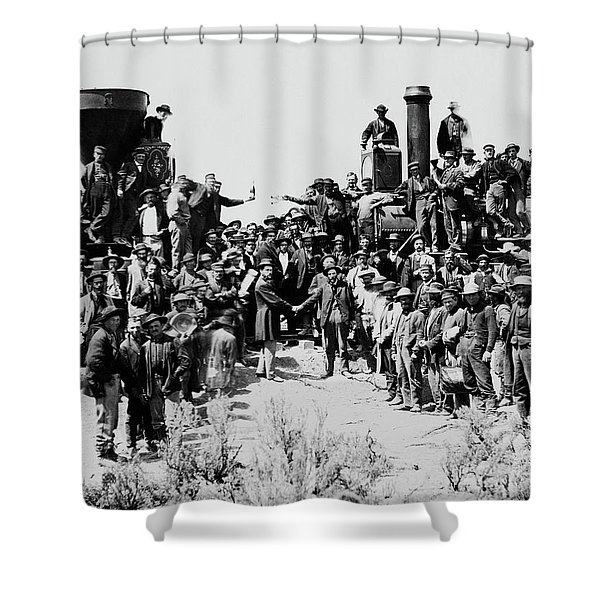 First Opening Of The Transcontinental Railroad - 1869 Shower Curtain